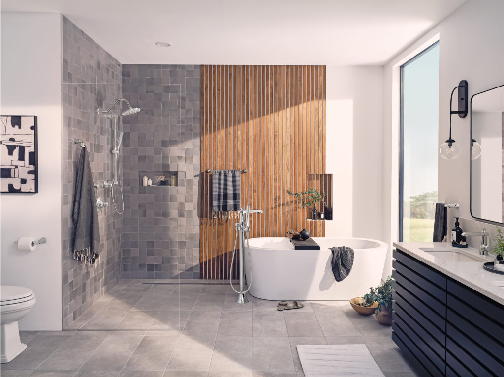 Bathroom Designs - The Natural Wood Look is a Hot Trend